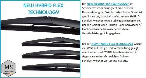 MS SHYBPOLY-321 Scheibenwischer Set 650 WiperBlade 2 St/ücke 500 mm