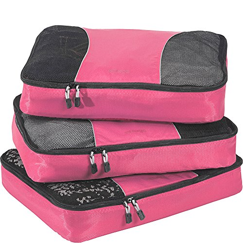 eBags Packing Cubes for Travel - 3pc Set - (Peony)