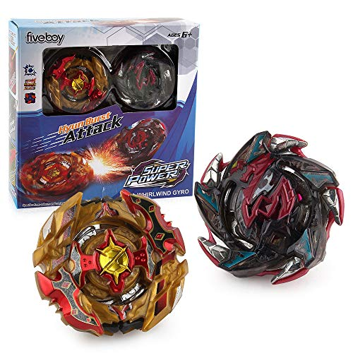Bey Burst Evolution Starter Battling Top Fusion Metal Master Rapidity Fight with 4D Launcher Grip Set(2 in 1)