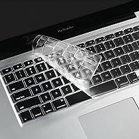 """i-Buy Français Clavier Coque de Protection / Couverture AZERTY pour MacBook Air 13"""" Pro 13"""" 15"""" 17"""" - Transparent / Clair"""