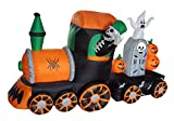 Durable The Holiday Aisle Halloween Inflatable Skeleton on Train Yard Decoration