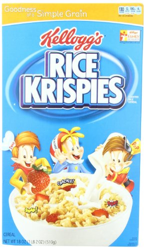 Rice Krispies Toasted Rice Cereal, 18-Ounce Boxes (Pack of 4)