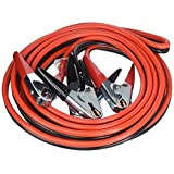 OxGord Jumper Cable 4 Gauge x 25 Feet Commercial Grade 500 AMP Non Tangle Battery Booster Starter with Carry Case