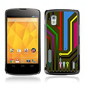 Super Stellar Slim PC Hard Case Cover Skin Armor Shell Portection // V0000795 PCB Digital Circuit //LG NEXUS 4
