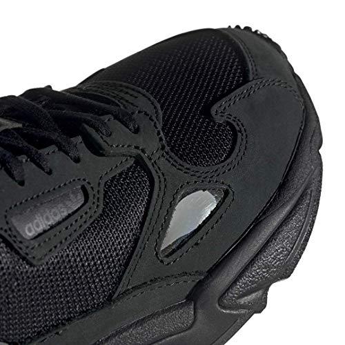 adidas Originals Women's Falcon Running Shoe, Black/Grey, 6 M US