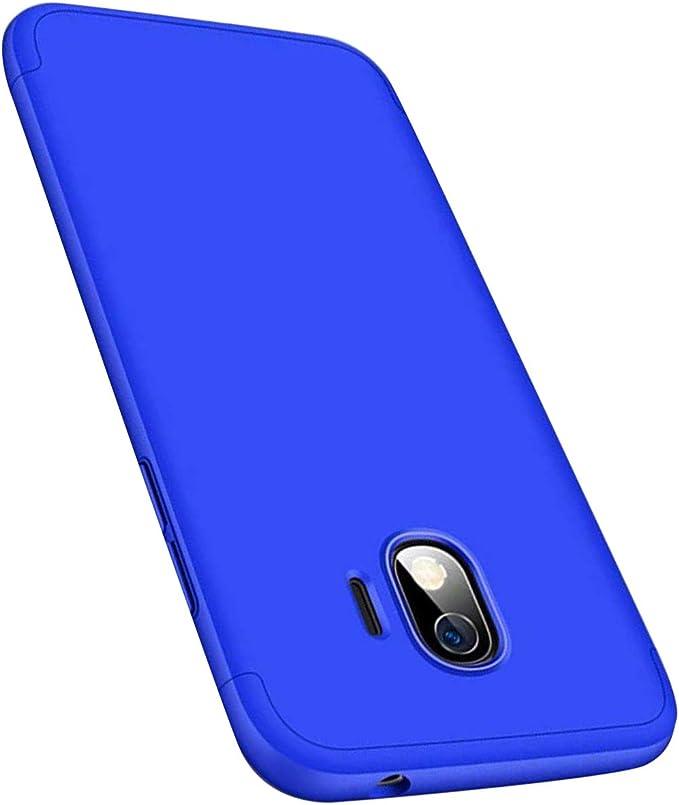 Coque Compatible avec Samsung Galaxy J3 2017, Etui 360° Protection Intégrale 3-en-1 PC Ultra Mince Anti-Choc Anti-Scratch Housse pour Telephone Galaxy ...