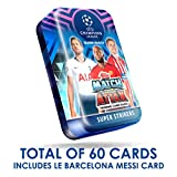 2018-19 Topps Match Attax Champions League Cards - Mega Tin (60 Cards, 15 Exclusive Cards + LE Gold Card) Look for Superstars Messi, Ronaldo, Mbappe, Neymar, Pogba, Salah, Pulisic & More!