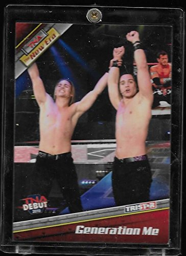 The Young Bucks 2010 TriStar TNA New Era Wrestling Debut Rookie Card #18 - Generation Me - Stored in a Protective Plastic Display Case!! -