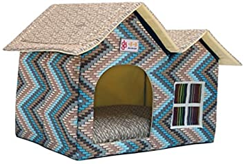 ZPP-Productos para mascotas de lujo caliente mascotas dog house cat litter ideas,azul: Amazon.es: Productos para mascotas