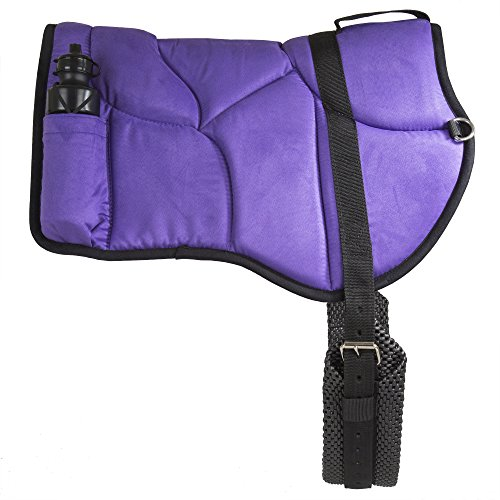 Riding Bareback - Best Friend Western Style Bareback Saddle Pad, Purple