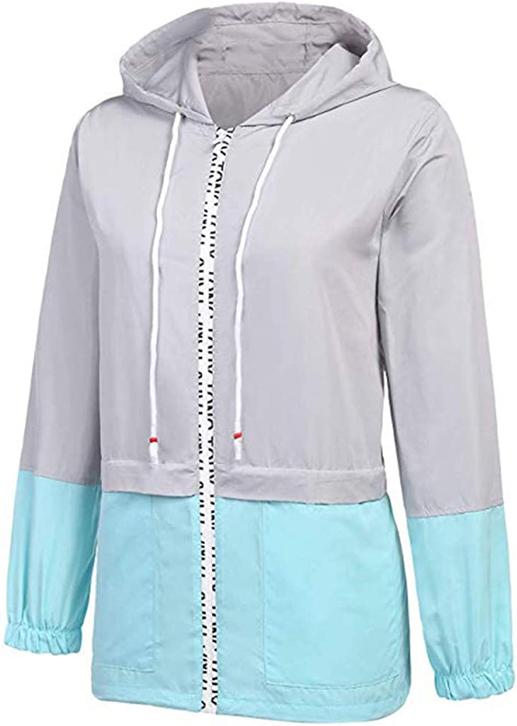 KLFGJ Women Rain Jacket Waterproof Rain Jacket Lightweight Windbreaker Jacket Raincoat Transition Jacket Hooded Windproof