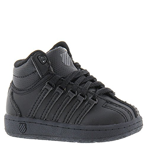 K-Swiss Classic VN Mid Shoe, Black/Black, 6 M US Toddler (Best Black Friday Deals For Sneakers)