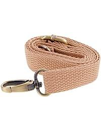 Adjustable Canvas Crossbody Bag Strap Handle Shoulder Bag Strap Replacements Bag Accessories - Khaki