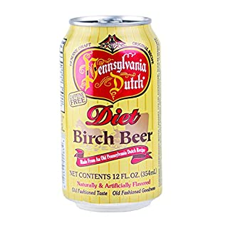 PA Dutch Diet Birch Beer, Protected With High-Density Foam, Favorite Amish Drink, 12 Oz. Cans (Case of 24 Cans)