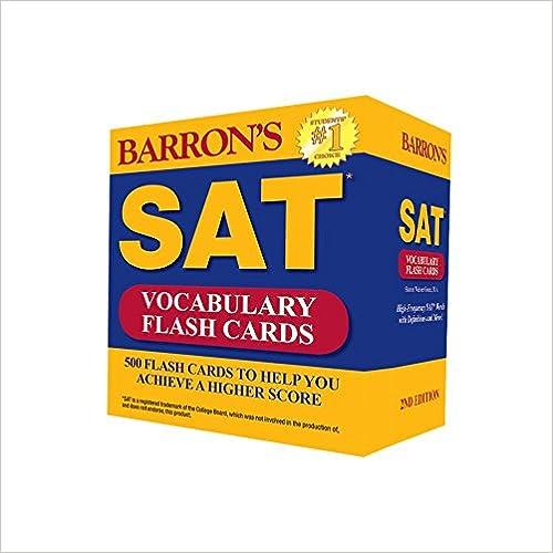Descargar gratis Barron's Sat Vocabulary Flash Cards: 500 Flash Cards To Help You Achieve A Higher Score Epub