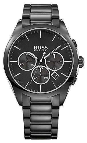 Hugo Boss Mens Onyx Analog Dress Quartz Watch (Imported) 1513365