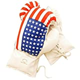 6 Oz Boxing MMA Kids Youth Practice Training Gloves Usa American Flag by MonoCam