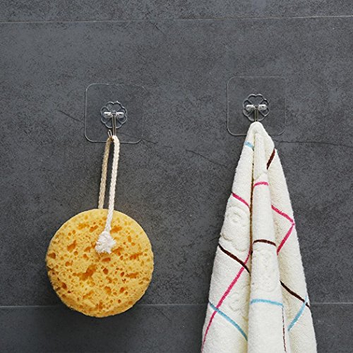 Miuniu Kitchen Towel Suction Cup Hook Hanger Holder Clear Bathroom Sucker Wall Hanger Utility Hooks(1 PCS) by Miuniu (Image #6)