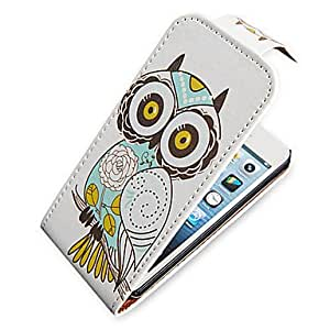 HP DFOwl Up-Down Turn Over PU Leather Full Bady Case for iPhone 5/5S