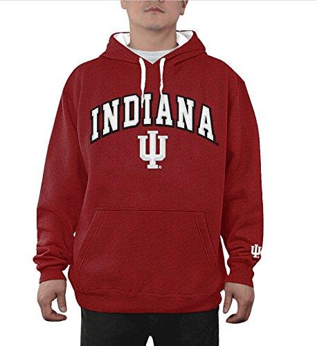 Elite Fan Shop NCAA Indiana Hoosiers Men's Hoodie Sweatshirt Team Applique Arch, Cardinal, X-Large