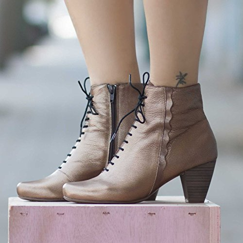 Bronze Women's Leather Boots (Camel Leather Cowboy Boots)