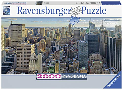 (Ravensburger 16708 View Over New York - 2000 Piece Panorama Puzzle for Adults, Every Piece is Unique, Softclick Technology Means Pieces Fit Together)