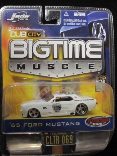 65 Ford Mustang Police Car (White) Dub City Bigtime Muscle By -