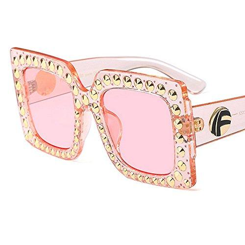 aire de gafas conducir grande mujer cuadrada Gu para forma retro remache gran Estilo del sol tamaño vacaciones verano playa de libre sol Peggy para protección al de de gafas UV gzw8q