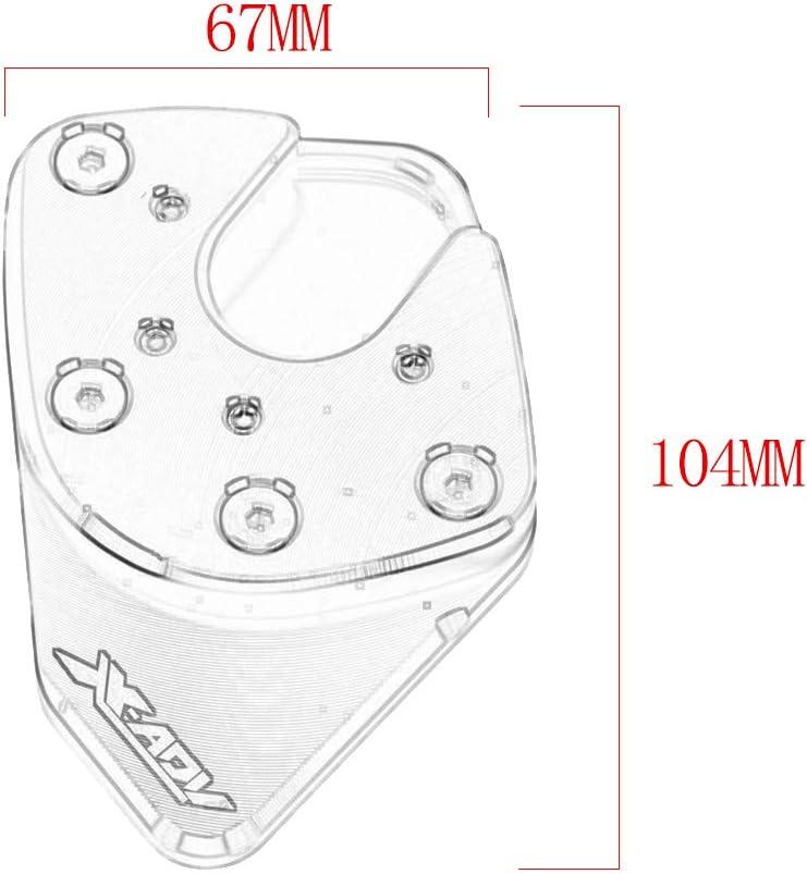 Tickas ingranditore del cavalletto,Supporto per piastra cavalletto Cavalletto accessori per pedivella Estensione dellallargatore CNC in alluminio per Honda X-ADV XADV 2017 2018