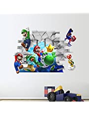 3D super Mario three-dimensional Wall Decoration Stickers