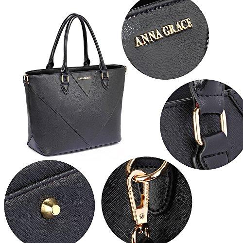 Femme Noir Pour Anna Bandoulière Sac Grace Zq1wIR