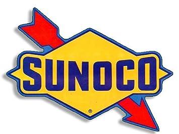 amazon com vintage sunoco logo shaped gas sticker gasoline old rat rh amazon com sunoco logo history sunoco logistics partners