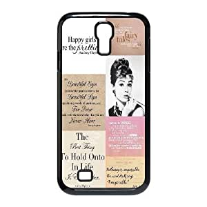 Audrey Hepburn Quotes The Unique Printing Art Custom Phone Case for SamSung Galaxy S4 I9500,diy cover case ygtg-780920