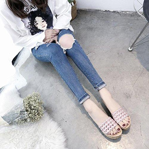 Glitter Schwarz Gepolstert Keil Offene Toe Heel Sandalen für Damen Pailletten Schuhe Gladiator Rosa Lolittas Peep High 2 6 Plattform Damen Größe Cxw6qY