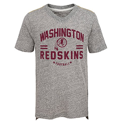 NFL by Outerstuff NFL Washington Redskins Youth Boys Heritage Short Sleeve  Tri-Blend Tee Heather d7bf1c62a
