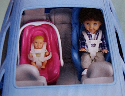 Amazon BARBIE Happy Family VOLVO V70 Vehicle VAN SUV W CAR SEAT 3 SOUNDS Open Close BACK HATCH More 2002 LIGHT BLUE Toys Games