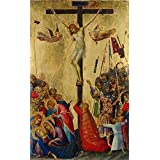 Canvas Prints Of Oil Painting ' Simone Martini,Orsini Polyptich Calvary,1284-1344 ' , 8 x 13 inch / 20 x 33 cm , Polyster Canvas Is For Gifts And Home Theater, Laundry Room And Study Room Decoration