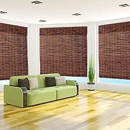 Java Vintage Bamboo Roman Shade - Free Shipping, 35x54