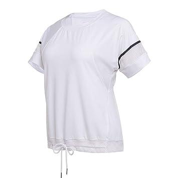 DAGUAISHOU Malla De Mujer Camisas De Yoga Secado Rápido ...
