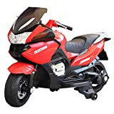 HOMCOM Children Ride On Toy Bike Kids Motorcycle 12V Battery (Red)