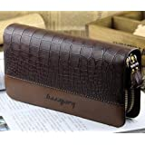 Big Mango Men's Crocodile Print PU Leather Two Zipper Cellphone Wallet Case for Apple Iphone 4 4s Iphone 5 Iphone 5s 5c Samsung Galaxy S4 S3 HTC Blackberry HUAWEI MP3 Makeup Key