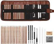 Ajcoflt Desenhar Conjunto de Esboços para iniciantes em Carvão Apagador de Lápis de Arte Kit de Pintura Artesa