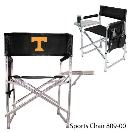 NCAA University of Tennessee Volunteers Embroidered Sports Chair, Black, One Size by Picnic Time
