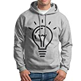 XiaoTing Men's Electric Bulb Casual Style Baseball Ash Hoodie