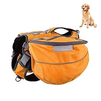 Petacc 2 en 1 Mochila Perros Bolso de Senderismo Oxford para Mascotas de Tela Mochila Ajustable
