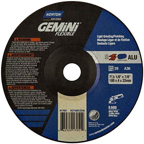 - Norton 66252917051 7x1/8x7/8 in. Gemini Depress Center Wheels, Alum. O