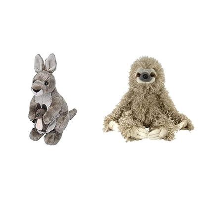 """Wild Republic Cuddlekins 12"""" Kangaroo Bundle Cuddlekin Three Toed Sloth 12"""" Plush: Toys & Games"""