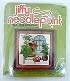 Jiffy Needlepoint Blue Stained Glass Atrium Kit 5265 by Barbara Jennings