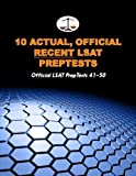 10 Actual, Official Recent LSAT PrepTests: Official LSAT PrepTests 41-50 (Cambridge LSAT) by Tatro Morley (2010-09-21) Paperback