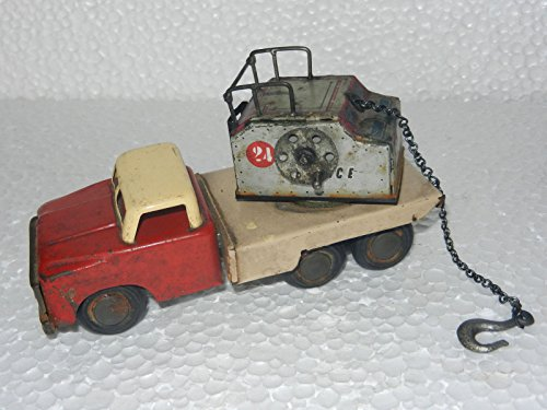 Vintage Friction Crane Lift Car Truck Tin Toy ,China